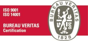 Bureau Veritas ISO sertifikaatti- tunnus.